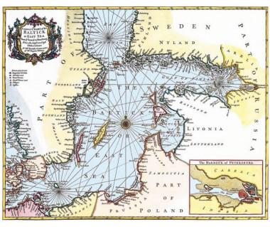 Bałtyk od Sundu po Petersburg reprint, R.W. Seale, 1745 r.