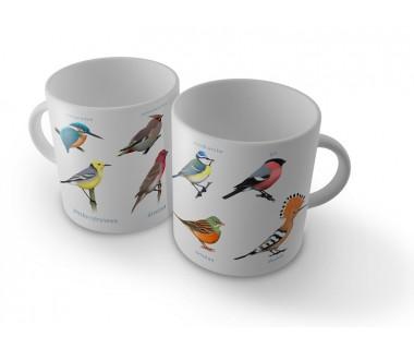 Kubek najbardziej kolorowe ptaki (zimorodek...)