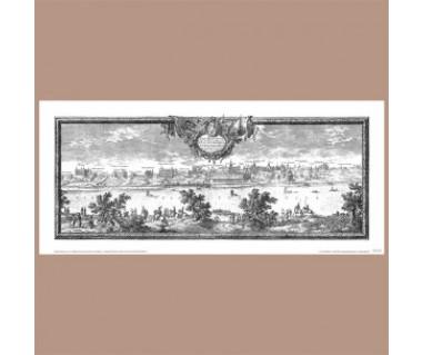 Warszawa reprint panoramy, E. J. Dahlberg, S. v. Pufendorf, 1696 r.