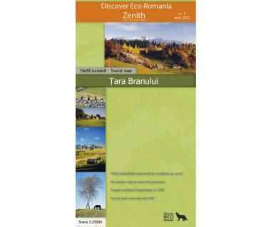 Tara Branului - Mapa turystyczna wodoodporna