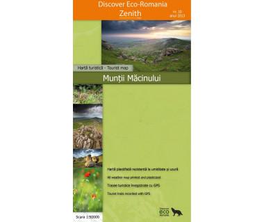 Muntii Macinului - Mapa turystyczna wodoodporna