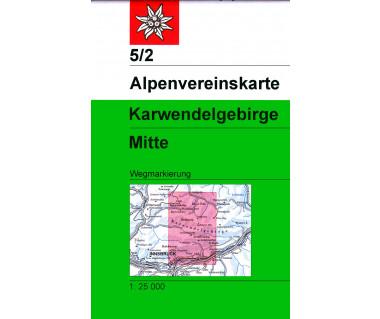 Karwendelgebirge Mitte - Mapa turystyczna