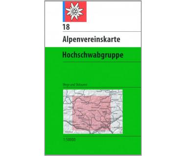 Hochschwabgruppe - Mapa turystyczna