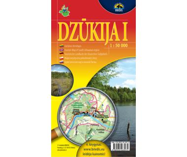 Dzukija I (Okolice Druskiennik) - Mapa