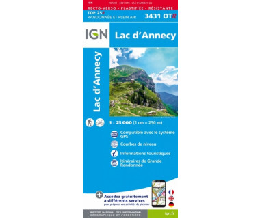 IGN 3431OTR Lac d'Annecy