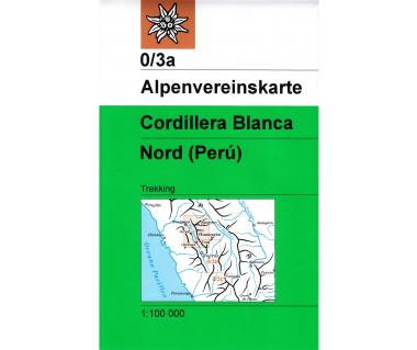 Cordillera Blanca Nord - Mapa