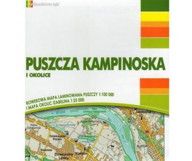 Puszcza Kampinoska i okolice rowerowa mapa laminowana