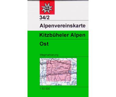 Kitzbuheler Alpen Ost - Mapa