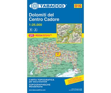Dolomiti del Centro Cadore - Mapa turystyczna