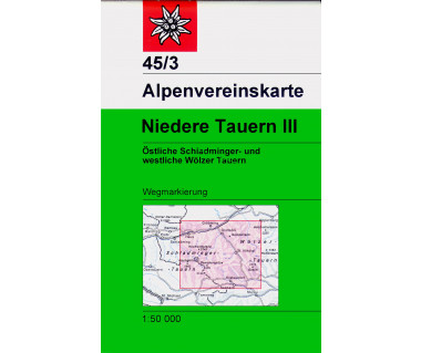 Niedere Tauern III - Mapa turystyczna