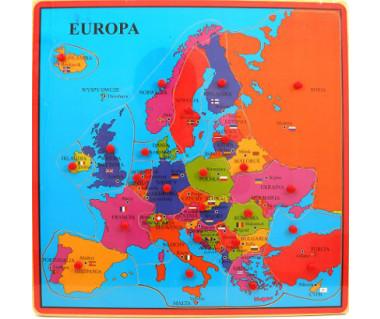 Drewniana mapa Europy