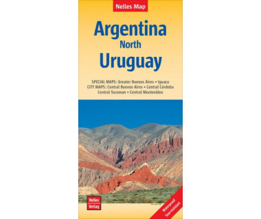 Argentina North, Uruguay - Mapa wodoodporna