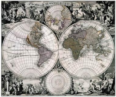 Świat reprint, G. Valck, 1705 r.