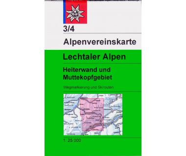 Lechtaler Alpen Heiterwand - Mapa turystyczna
