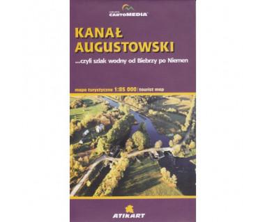Kanał Augustowski. Szlak wodny od Biebrzy po Niemen - Mapa
