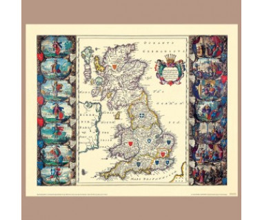 Wyspy Brytyjskie reprint, J. Blaeu, 1645 r.