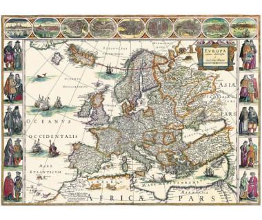 Europa reprint, W. Blaeu, 1617 r.