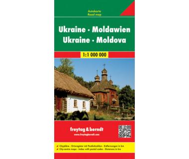 Ukraine, Moldova - Mapa