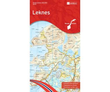 Leknes - Mapa