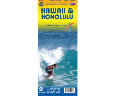 Hawaii & Honolulu - Mapa wodoodporna