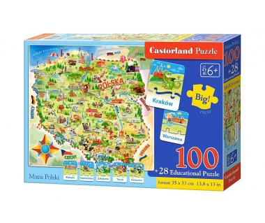Puzzle 100+28 Mapa Polski