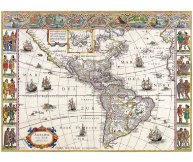 Ameryka reprint, W. Blaeu, 1617 r.
