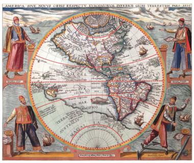 Ameryka reprint, T. de Bry, 1596 r.