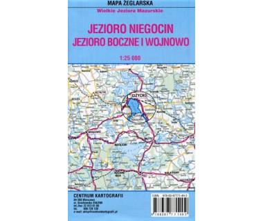 Jezioro Niegocin, Boczne i Wojnowo mapa żeglarska foliowana