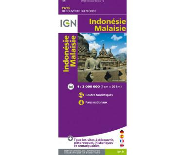 Malaisie, Indonesie - Mapa