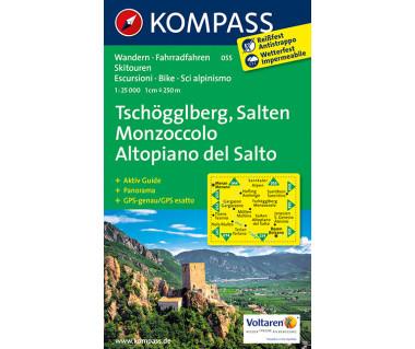 Tschogglberg, Salten/Monzoccolo, Altopiano del Salto, - Mapa laminowana