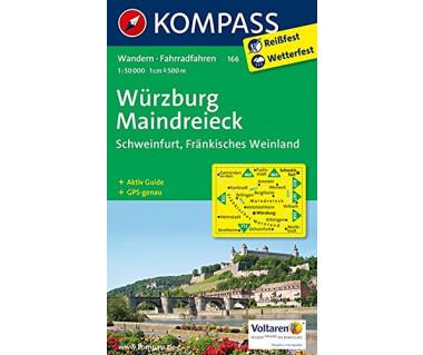 Wurzburg, Maindreieck, Schweinfurt, Frankisches Weinland - Mapa