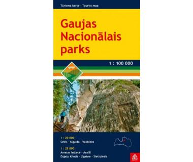 Gaujas Nacionalais Parks - Mapa