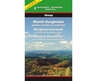 Muntii Gurghiului partea nordica si centrala - Mapa turystyczna
