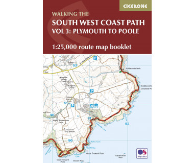 South West Coast Path Map Booklet - Plymouth to Poole