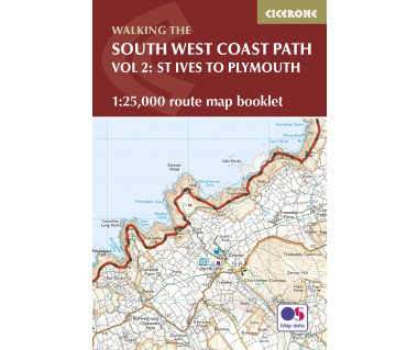South West Coast Path Map Booklet - St Ives to Plymouth