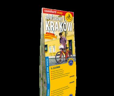 Rowerowy Kraków plan laminowany