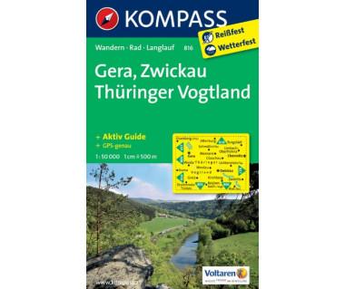 Gera, Zwickau, Thuringer Vogtland (folia) - Mapa