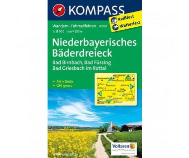 Niederbayerisches Baderdreieck - Mapa laminowana
