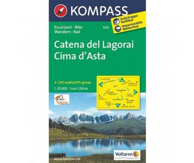 Catena dei Lagorai-Cima d'Asta - Mapa laminowana