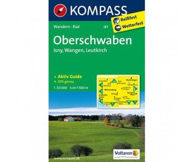 Oberschwaben, Isny, Wangen, Leutkirch - Mapa laminowana