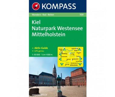Kiel, Naturpark Westensee, Mittelholstein - Mapa
