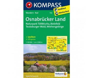 Osnabrucker Land, Naturpark TERRA.vita, Bielefeld, Teutoburger Wald, Wiehengebirge - Mapa laminowana