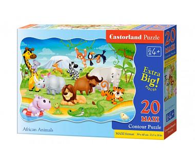 Puzzle 20 maxi African Animals