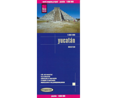 Yucatan mapa wodoodporna