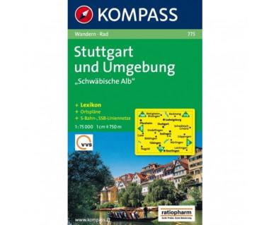 """Stuttgart und Umgebung, """"Schwabische Alb"""" - Mapa"""