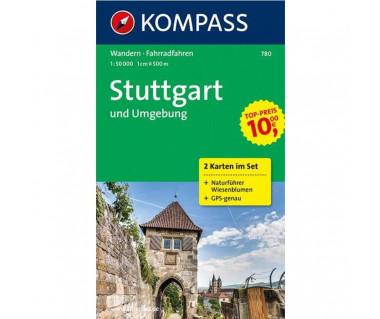 Stuttgart und Umgebung, 2-teiliges Set mit Naturfuhrer - Mapa