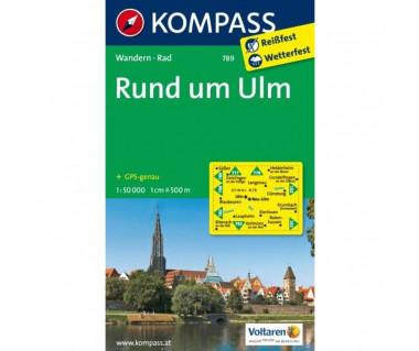 Ulm, Rund um - Mapa laminowana