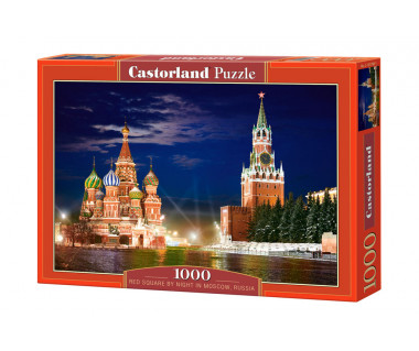 Puzzle 1000 The Red Square by night in Moscow, Russia