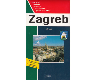 Zagreb city map