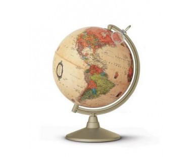 Globus stylizowany Marco Polo 30 cm z lupą (podświetlany)
